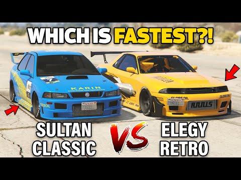 GTA 5 ONLINE - SULTAN CLASSIC VS ELEGY RETRO CUSTOM (WHICH IS FASTEST?)