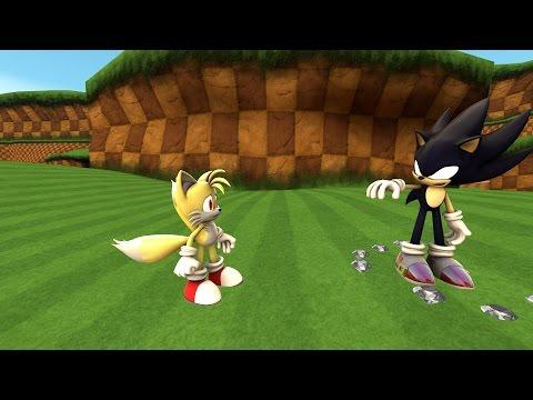 Dark Super Sonic vs. Super Tails [SFM]