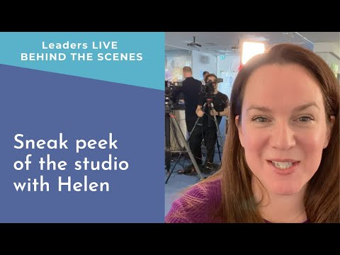 Sneak peek of the pop-up studio with Helen | Leaders LIVE BTS