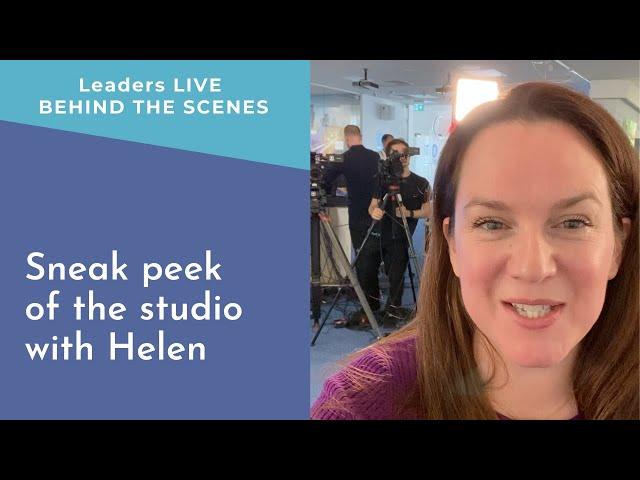 Sneak peek of the pop-up studio with Helen   Leaders LIVE BTS
