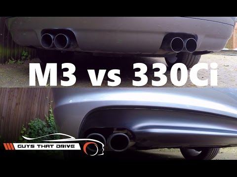 BMW E46 M3 vs E46 330Ci part 2, sound comparison stock exhausts | The GTD Vlog