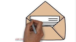 How to draw a mail letter for kids step by step