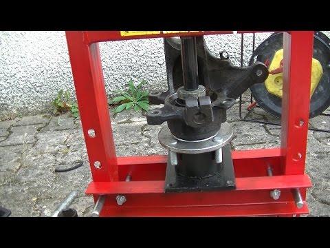 Wie man ein Radlager mit einer 60 € Presse wechseln kann