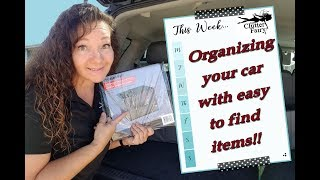 Organizing your car with these easy to find items