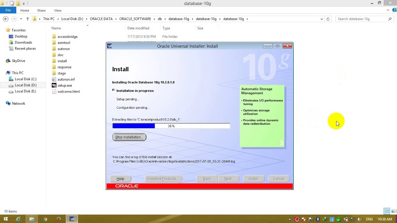 installation Oracle 10g Database & Forms 6i