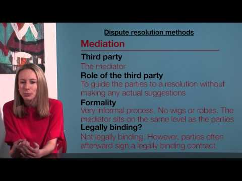 VCE Legal Studies - Dispute Resolution Methods