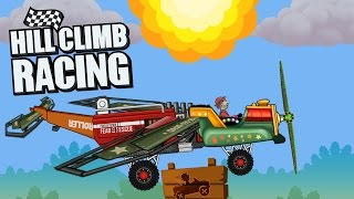 hill climb racing aircraft create car