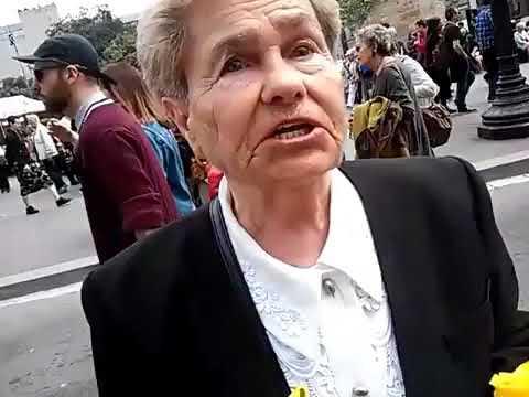 Señora independentista de Albacete