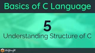 Understanding Structure of C Program - C Programming Tutorial for Beginners