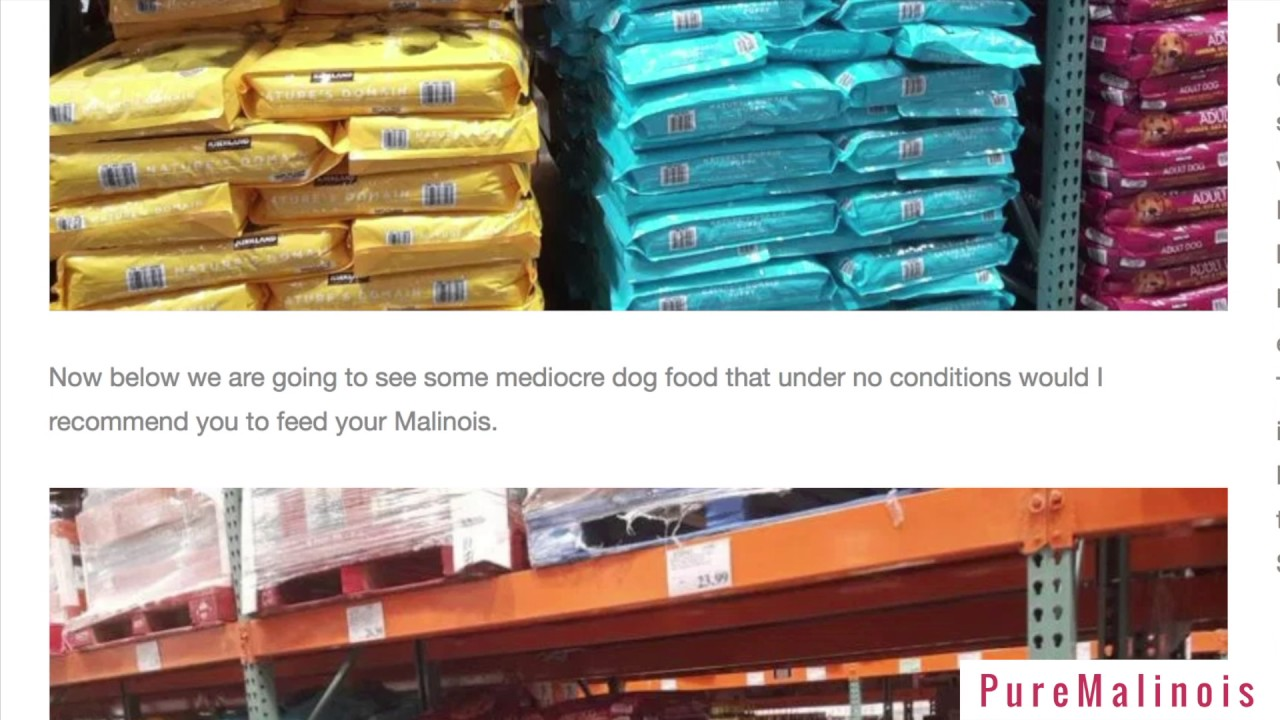 Costco Dog Food Shopping Guide For Belgian Malinois Pure Belgian
