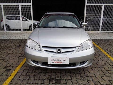 Superior Honda Civic LX 1.7 16v Automático   2004