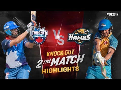 Toronto Nationals vs Winnipeg Hawks | Knock out Match 2 Highlights | GT20 Canada 2019