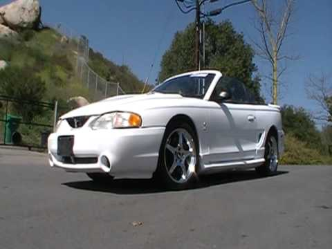 1998 Ford Mustang Cobra Convertible Drop Top Svt Lightning For Cheep You
