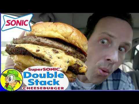Sonic® | SUPERSONIC® DOUBLE STACK CHEESEBURGER Review 🚀🍔 | Peep THIS Out! 🚗🔊