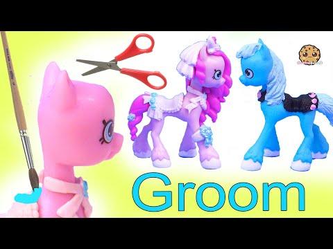 Groom PONY Wedding Shopkins Happy Places Petkins Custom ! DIY Painting Video