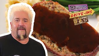 Guy Fieri Eats Bacon-Wrapped Meatloaf (from #DDD) | Food Network