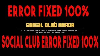Fix GTA 5 error 16,17,0 code.Fix scial club failed to initialize 100% fixed
