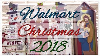 WALMART CHRISTMAS DECOR 2018  ~ SHOP WITH ME! ~ ORNAMENTS ~ WREATH
