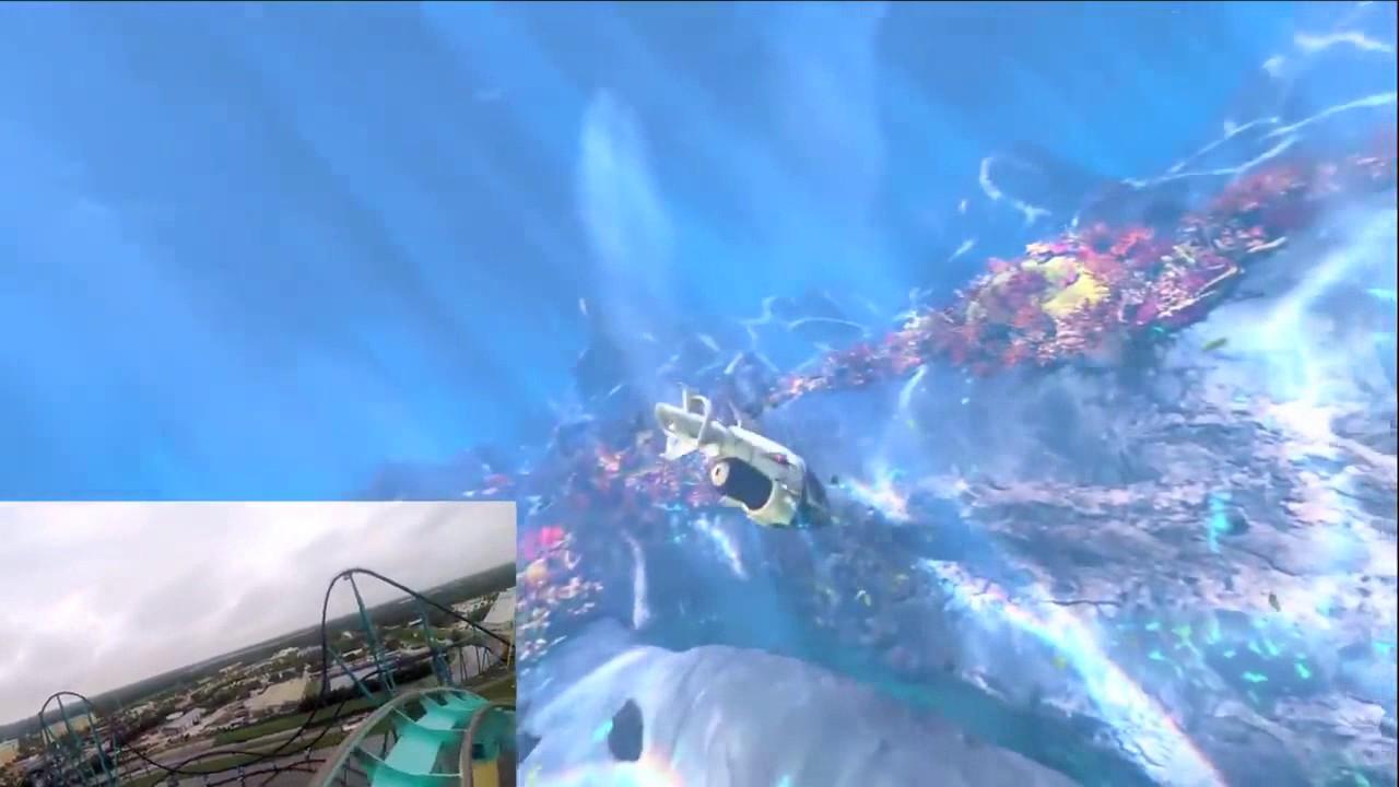 Download Kraken Unleashed Full POV VR Roller Coaster Virtual Reality Onride SeaWorld Orlando
