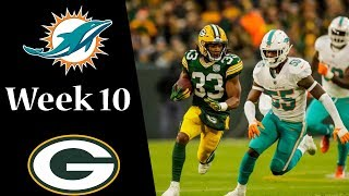 Miami Dolphins vs Green Bay Packers NFL Week 10 Highlights