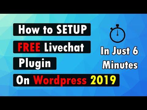 How To Setup 100% FREE LIVE CHAT On Wordpress | 2019