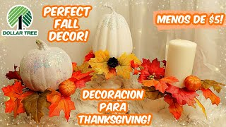 Thanksgiving / Fall Decorating Using Stuff From The DollarTree! Under $ 5! DIY Pumpkin Patch Pillars