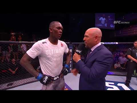 The Ultimate Fighter Finale: Israel Adesanya Octagon Interview