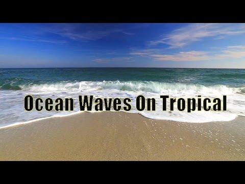 Ocean Waves On Tropical Island Ambience Sound, Paradise Beach Sounds For Relaxation