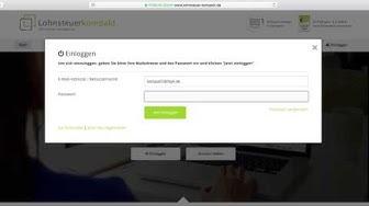 Wie ändere ich meine E-Mail-Adresse oder mein Passwort?  | Lohnsteuer kompakt