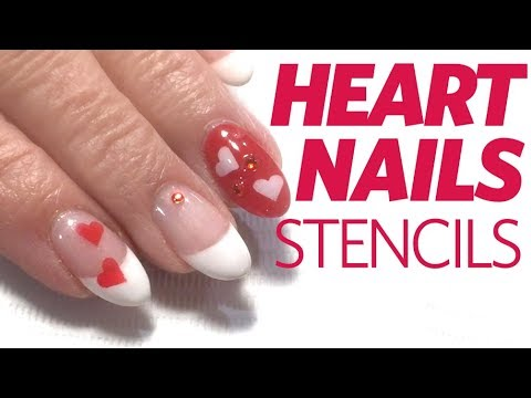V-Day Nails: Gel Heart Nail Design Using Bio Sculpture Gel - V-Day Nails: Gel Heart Nail Design Using Bio Sculpture Gel - YouTube