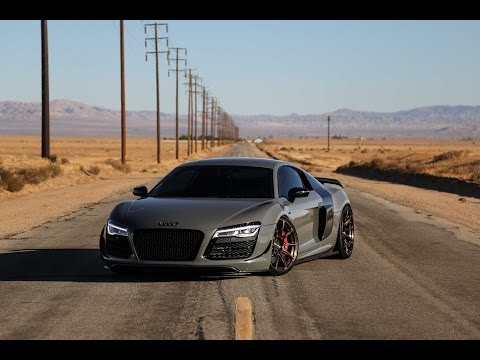 Audi R8 V10 Racing In Desert Ghost Town! Exhaust Notes, Fly By's And More!