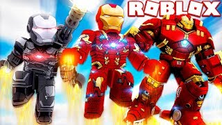 AVENGERS IRON MAN SIMULATOR IN ROBLOX!