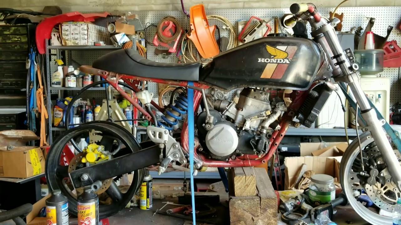 Rotax -250R Hybrid 2 stroke street legal motorcycle build