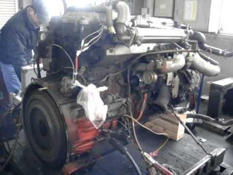 三菱ふそうファイターFK64FL、6M60ターボエンジンのベンチテスト ...