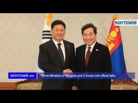 Prime Ministers of Mongolia and S Korea hold official talks