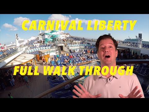 Carnival Liberty Review- Full Walkthrough - Ship Tour