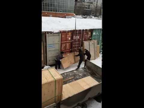 Загрузка в контейнер тяжелых, негабаритных предметов. SKLAD-24