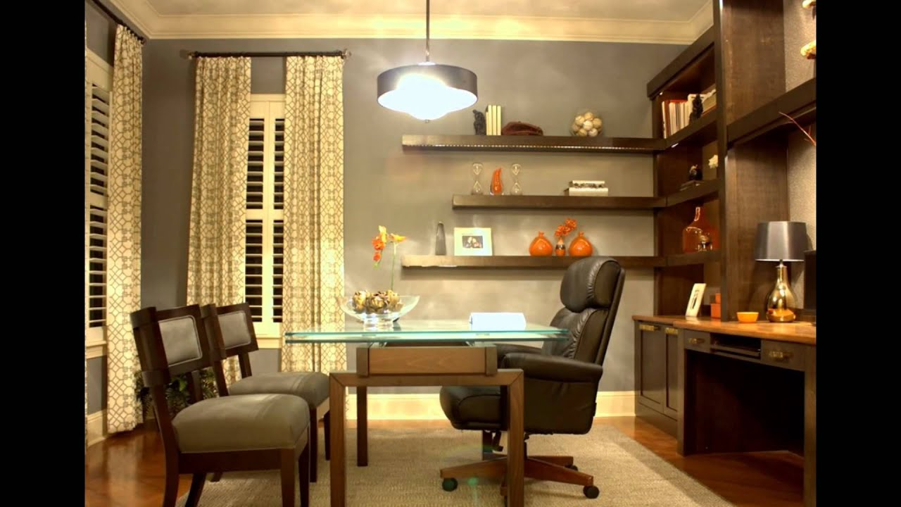 Home Office Wall Shelving Ideas - YouTube