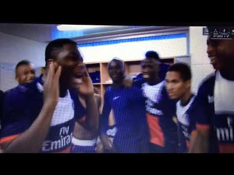 Grosse joie des U19 du PSG
