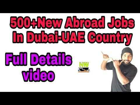 Abroad Job At Dubai Country,500+ Jobs Post, Salary 1700-2000+200+ OT Dubai Dirham