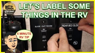 Label & Post The RV Height, Switches, Connections, Slides – 5 Minute RV Tips Tricks Mods & Upgrades