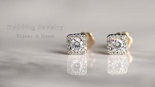 14k 18k 2부 다이아몬드 귀걸이(프린세스) 결혼예…