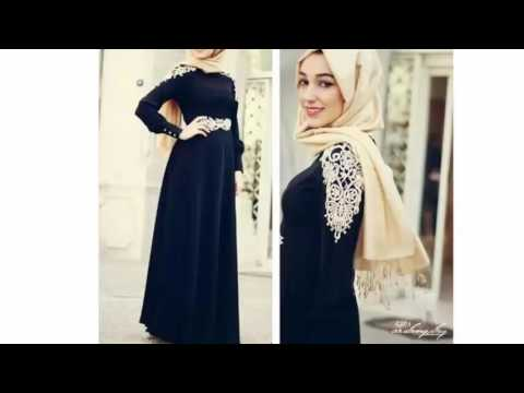 e32b9737ccc2b احدث فساتين محجبات تركية 2016 - 2017 فساتين فساتين سهرة عبايات تركية -  Turkish Dresses Collection