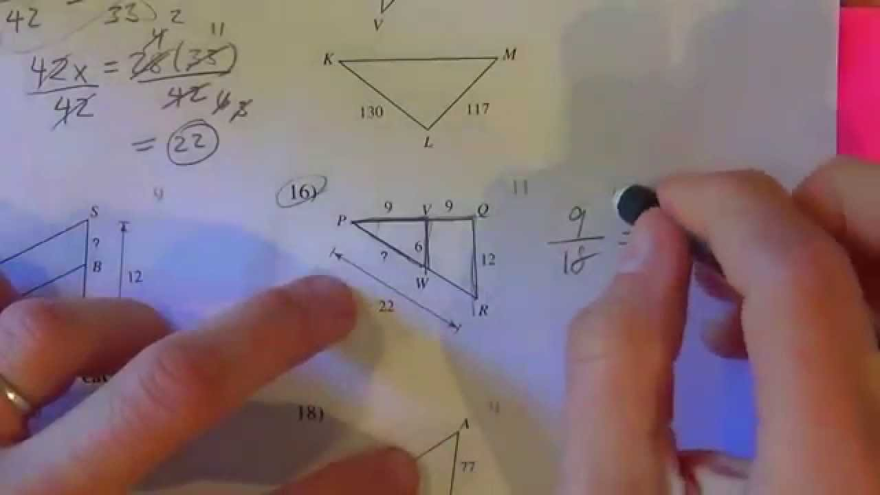 Similar Triangles Kutasoftware 6 13 16 Part 2 Of 2 Youtube