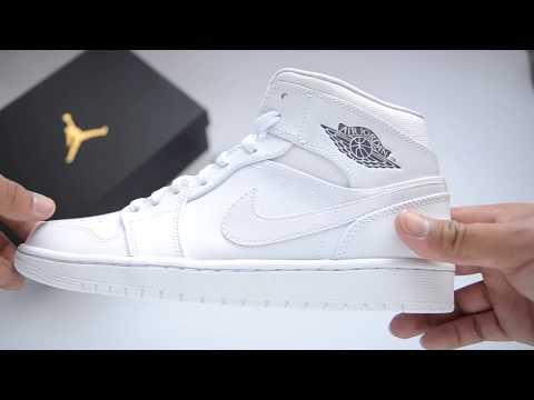 promo code 9ec2b 8e681 Nike Air Jordan 1 Mid  WHITE