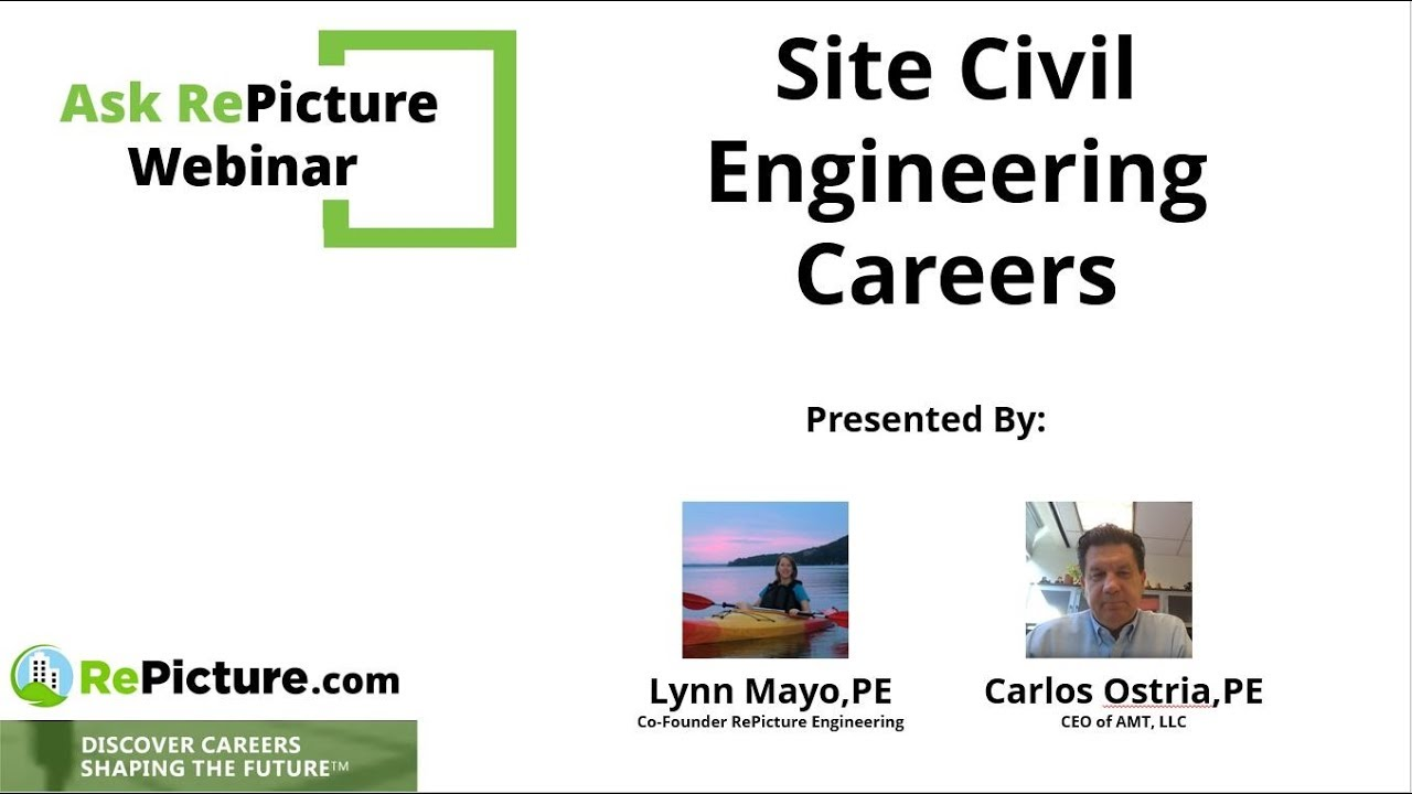 Ask Repicture Webinar Site Civil Design Engineering Careers Youtube