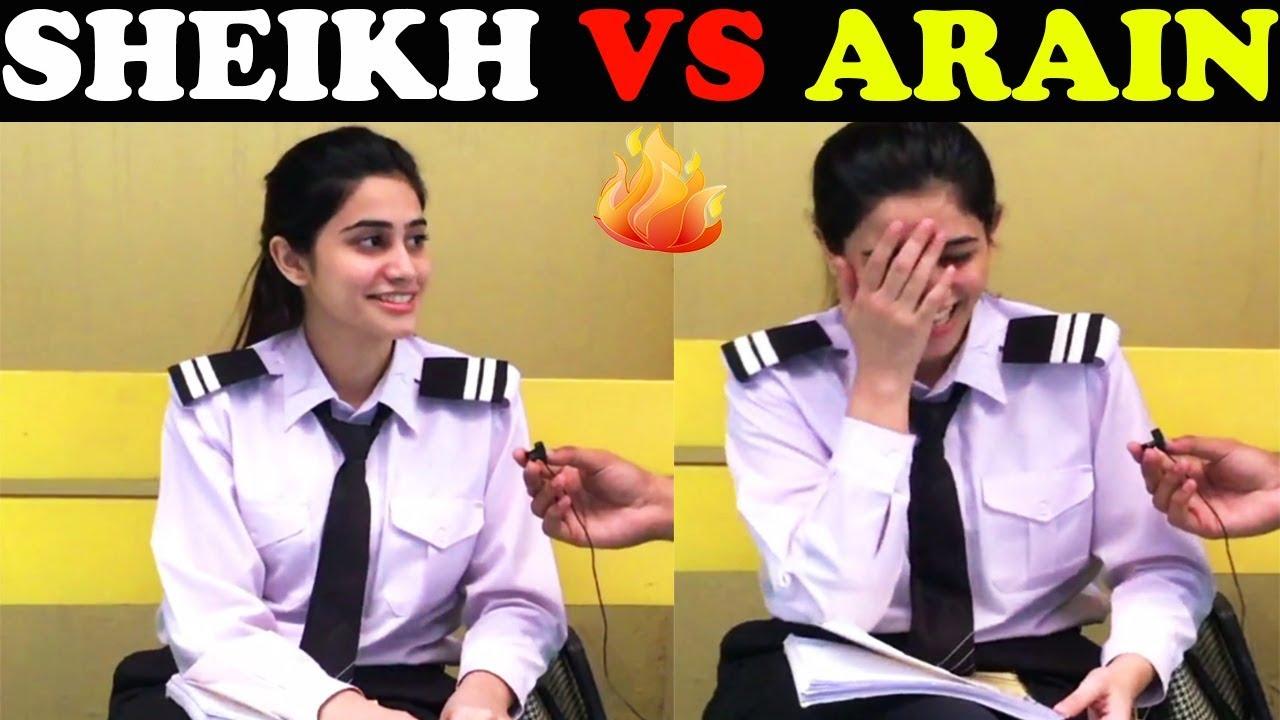 ARAIN VS SHEIKH   University of Lahore   Public Reaction Show