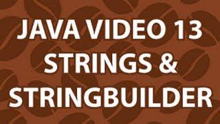 Java Video Tutorial 13