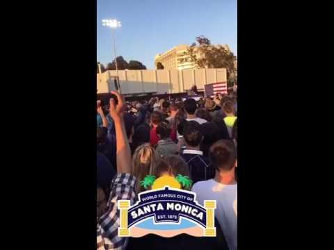 Bernie Rally Santa Monica Snapchat Story