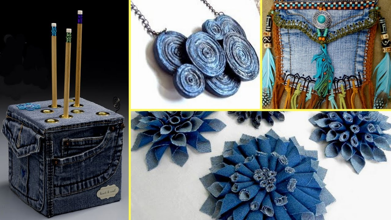 offer discounts best deals on authorized site ❤36 Creative DIY Ways HOW TO REUSE OLD JEANS - Recycled Denim Craft Ideas❤